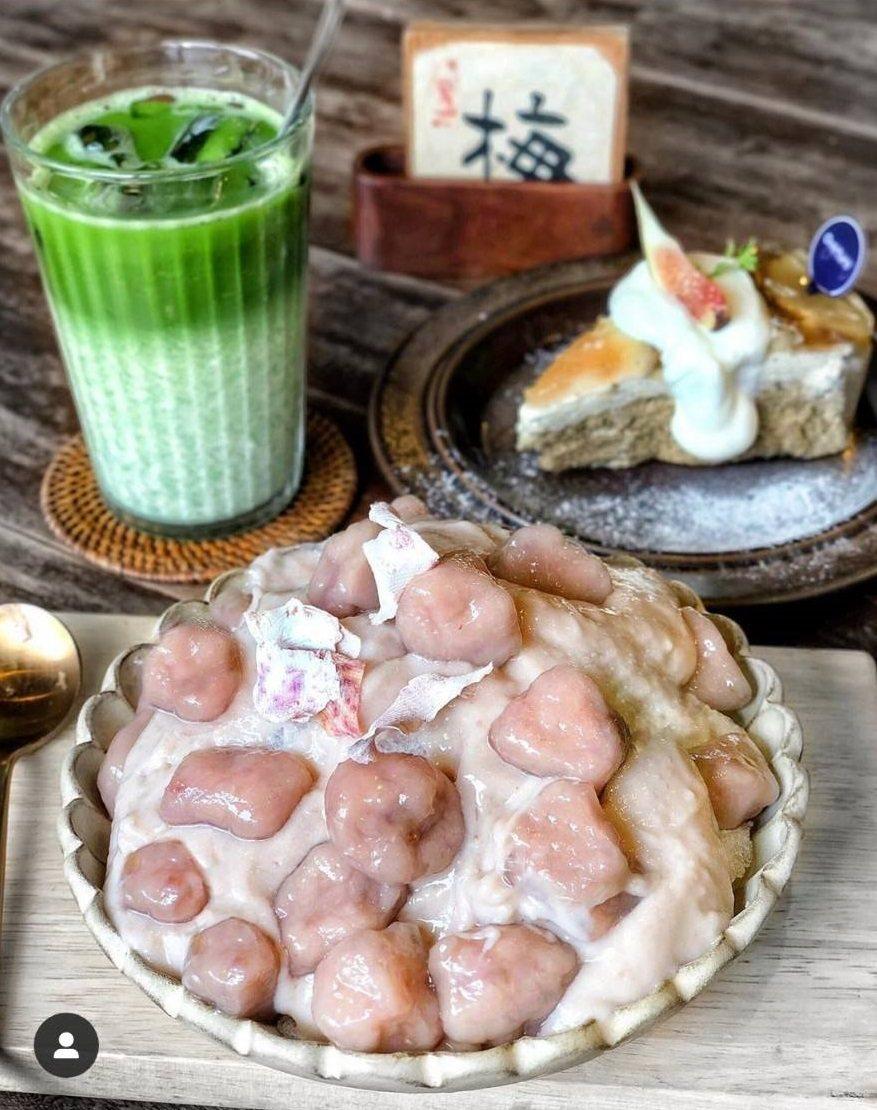 「大甲芋頭芋圓刨冰」大顆芋圓看起Q嫩好吃。IG @eatha.foodie 提供