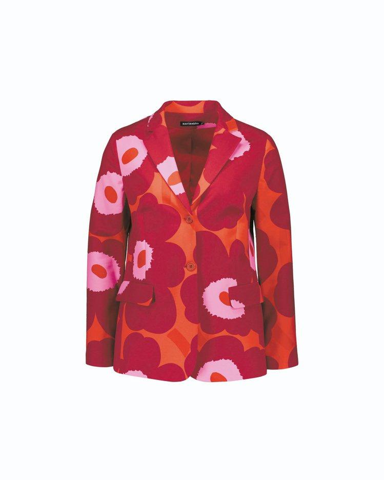 經典Unikko罌粟花西裝外套,18,280元。圖/Marimekko提供