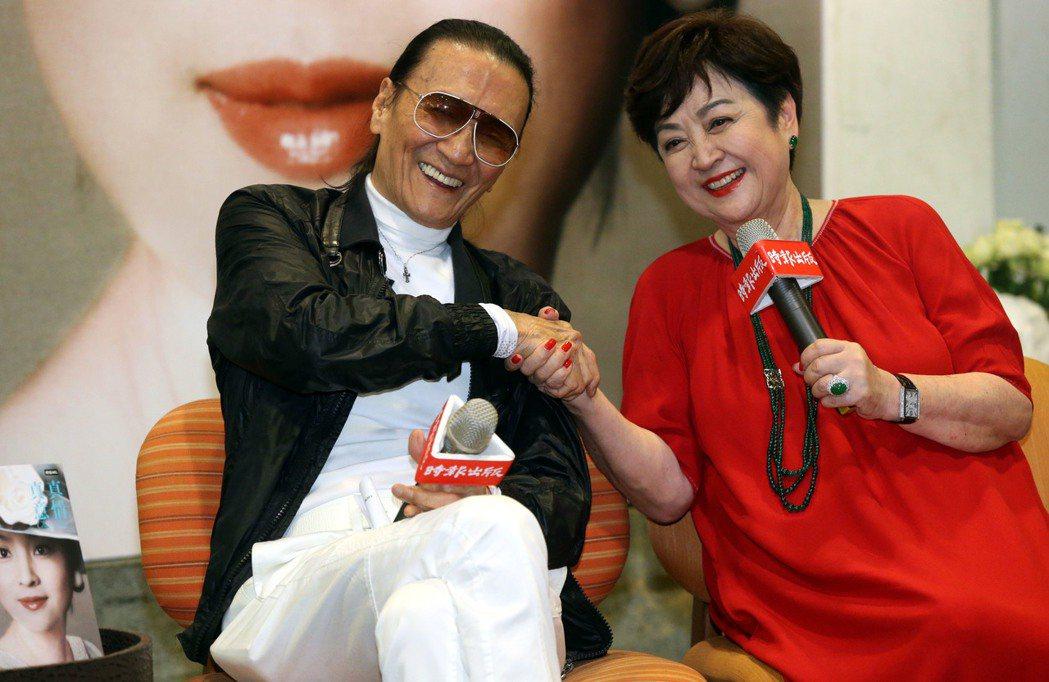 甄珍與謝賢重逢互動溫馨,竟被傳要再婚,她已否認。圖/報系資料照片
