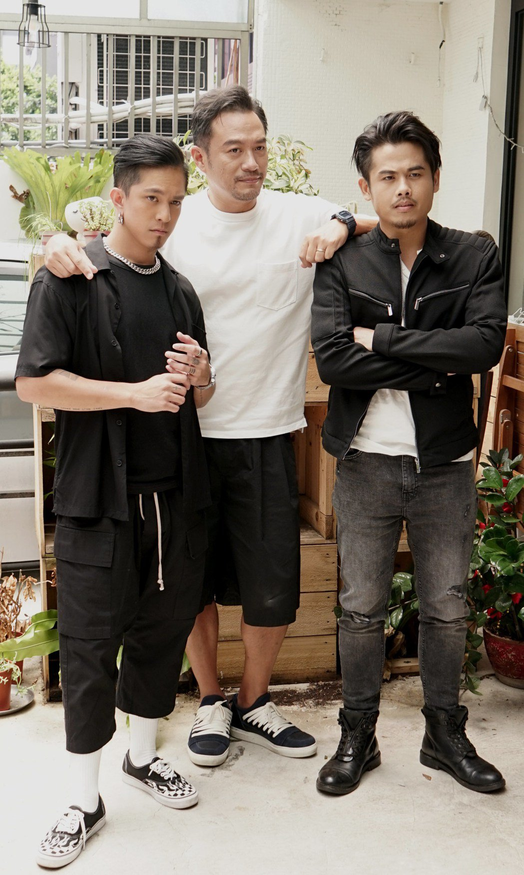 黃遠(左起)、張翰、張再興出席「靈異街11號」媒體餐敘。圖/LINE TV提供