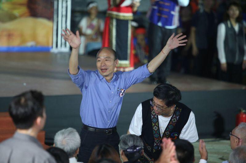 高雄市長韓國瑜承諾好好照顧小林村民和受八八風災之傷的偏鄉居民。記者劉學聖/攝影