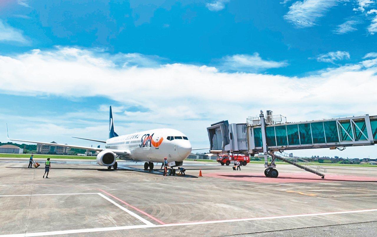 航空界擔心山東航空取消台中、花蓮航班,是兩岸航班消減的警訊。 圖/聯合報系資料照...