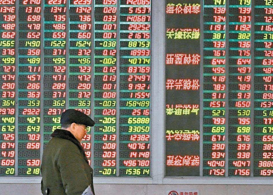 MSCI公布季度調整,大陸A股權重從百分之十調高到十五,可望挹注市場活水。圖/聯...