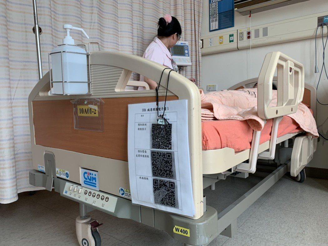 要價約10萬的特殊負重病床,可乘載400公斤的患者。 記者陳雨鑫/攝影