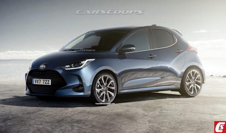 新世代Toyota Yaris預想圖。 摘自Carscoops