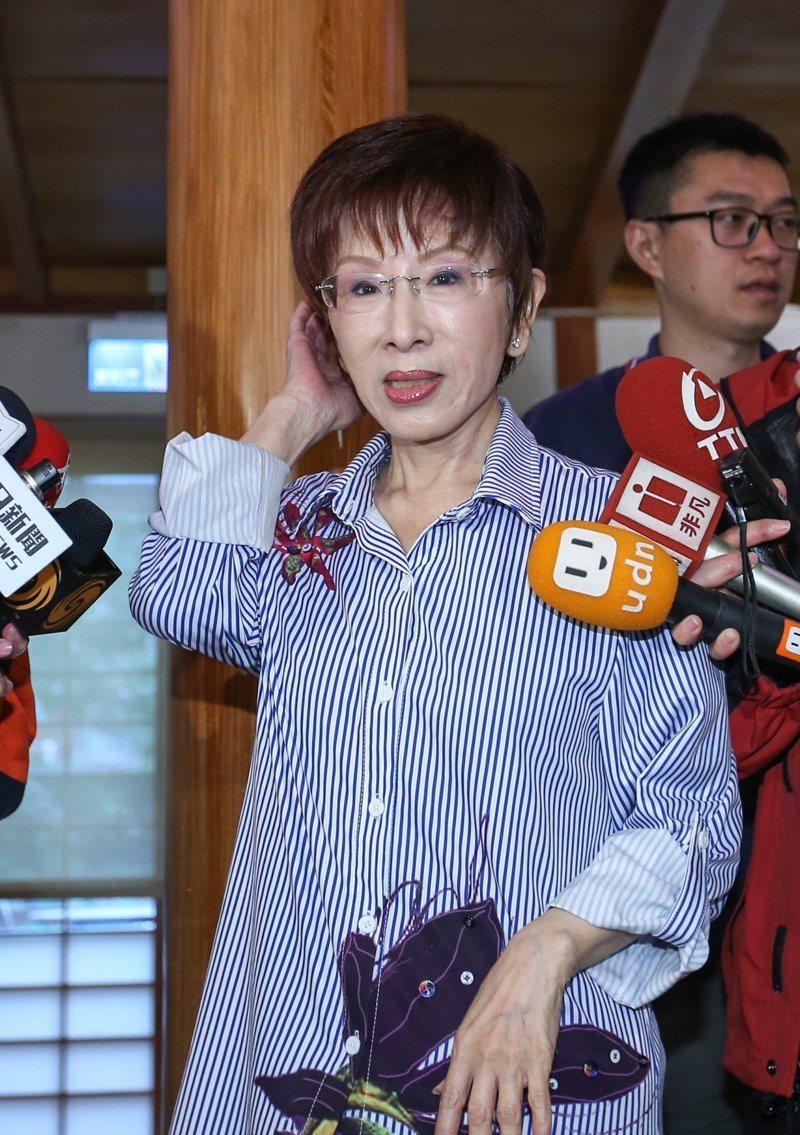 國民黨前主席洪秀柱(圖)已遷戶籍到台南,準備參選立委挑戰民進黨鐵票區。 記者陳柏亨/攝影
