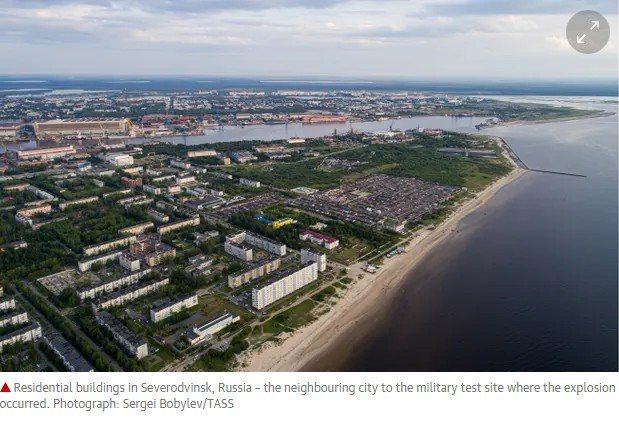 俄羅斯發生爆炸地點附近的北德文斯克市。 圖擷自The Guardian