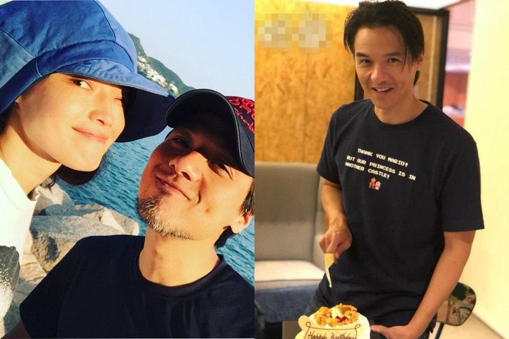 舒淇(左)與馮德倫(右)鮮少放閃。圖/擷自IG。