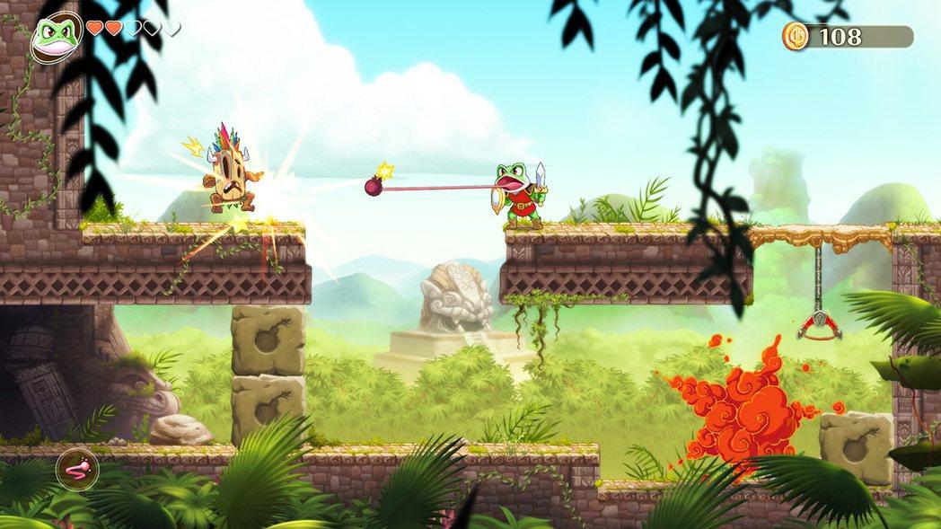 遊戲中主角可以獲得變身能力,必須要因應各種關卡地形做出適時變化。