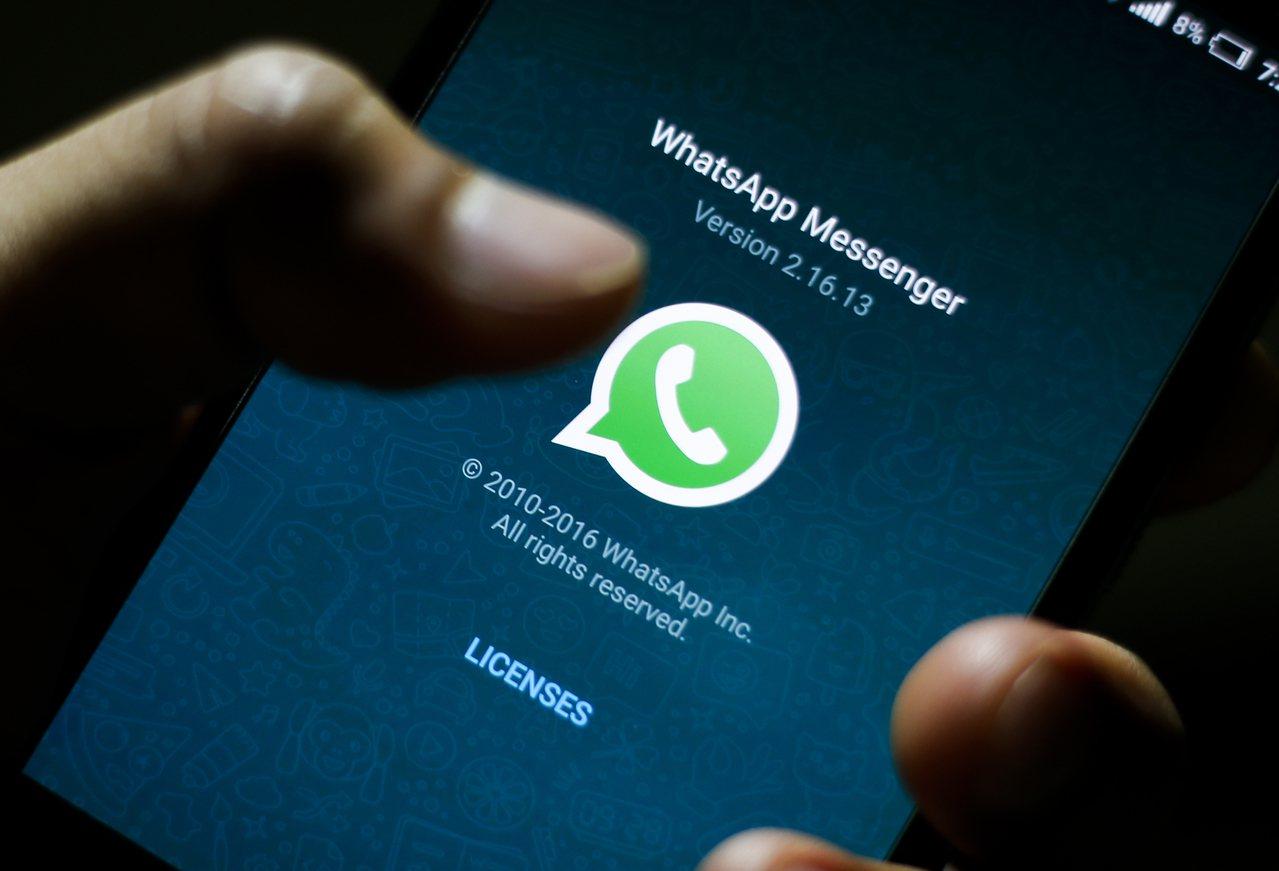通訊手機應用程式WhatsApp。 歐新社資料照