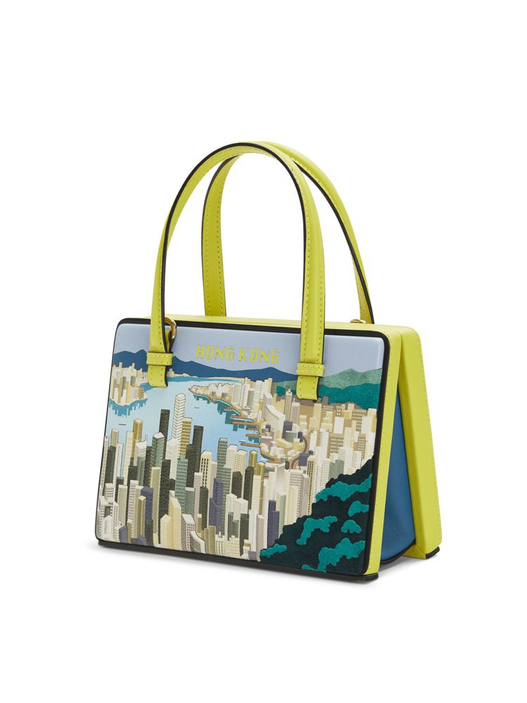 Postal亮綠色香港肩背提包,價格店洽。圖/LOEWE提供