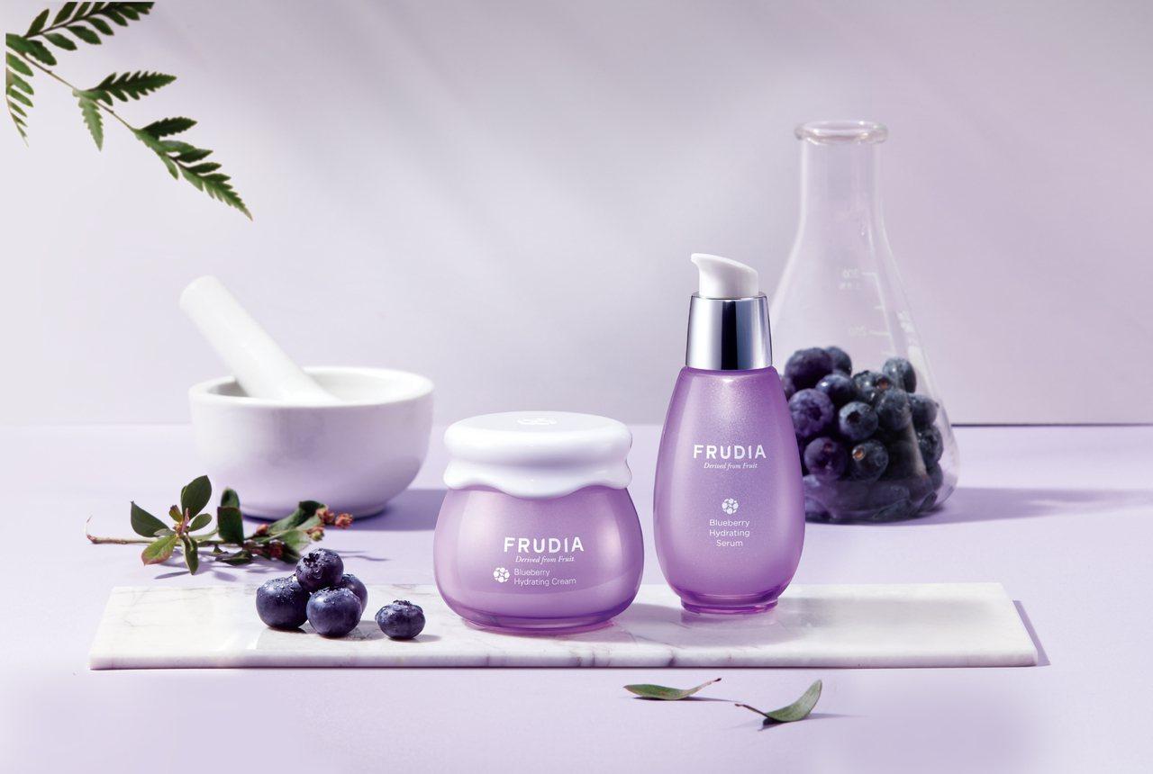 FRUDIA藍莓補水保濕系列。圖/FRUDIA提供