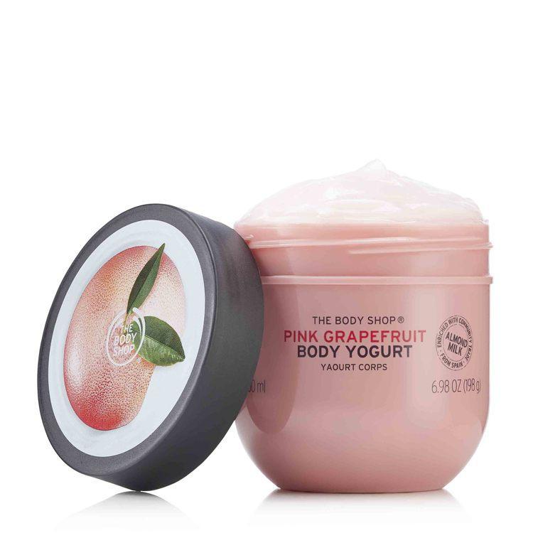 THE BODY SHOP粉紅葡萄柚淨白保水美肌優格,200ml售價650元。圖...