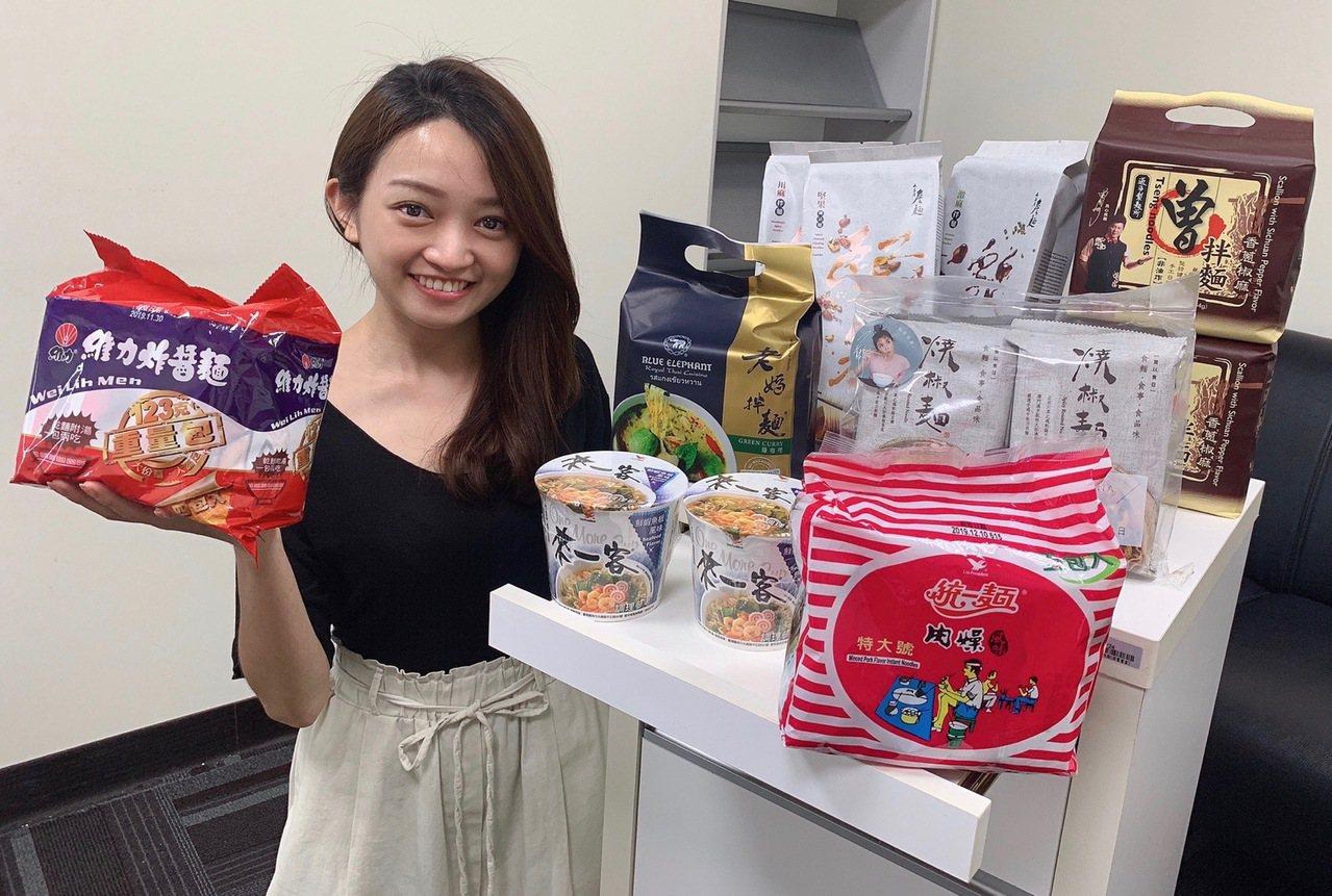 momo購物網中元節檔期「台味泡麵」展現超高人氣,賣出好成績。圖/momo購物網...