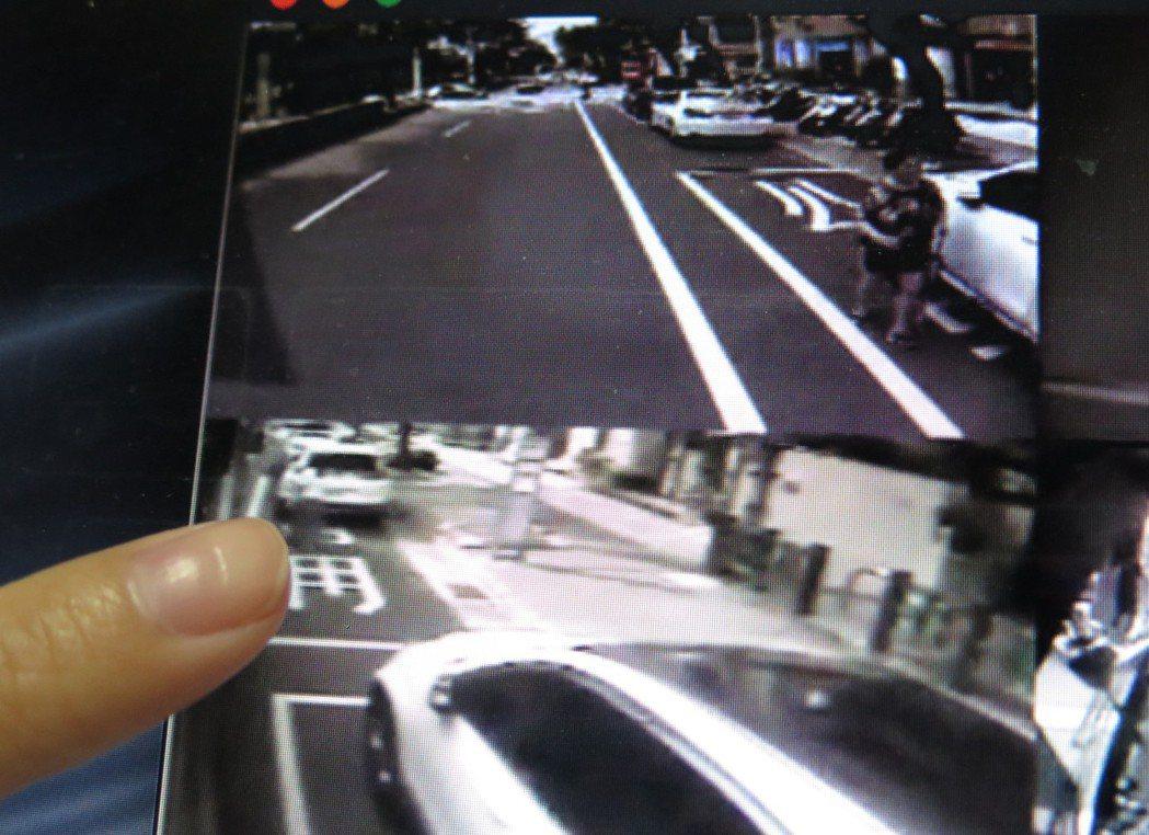 桃園區中正路6月起加強公車停靠區違規停車取締,客運業者提供行車記錄器影像,明顯可...