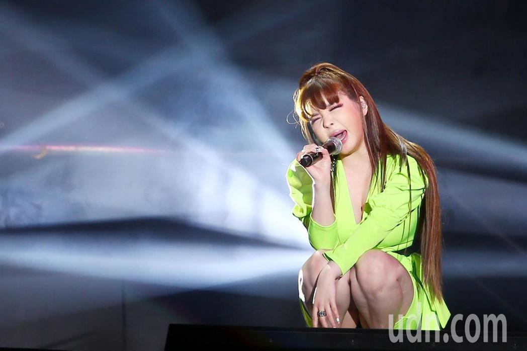 前韓國女子團體「2NE1」的主唱朴春來台舉行見面會。記者王騰毅/攝影