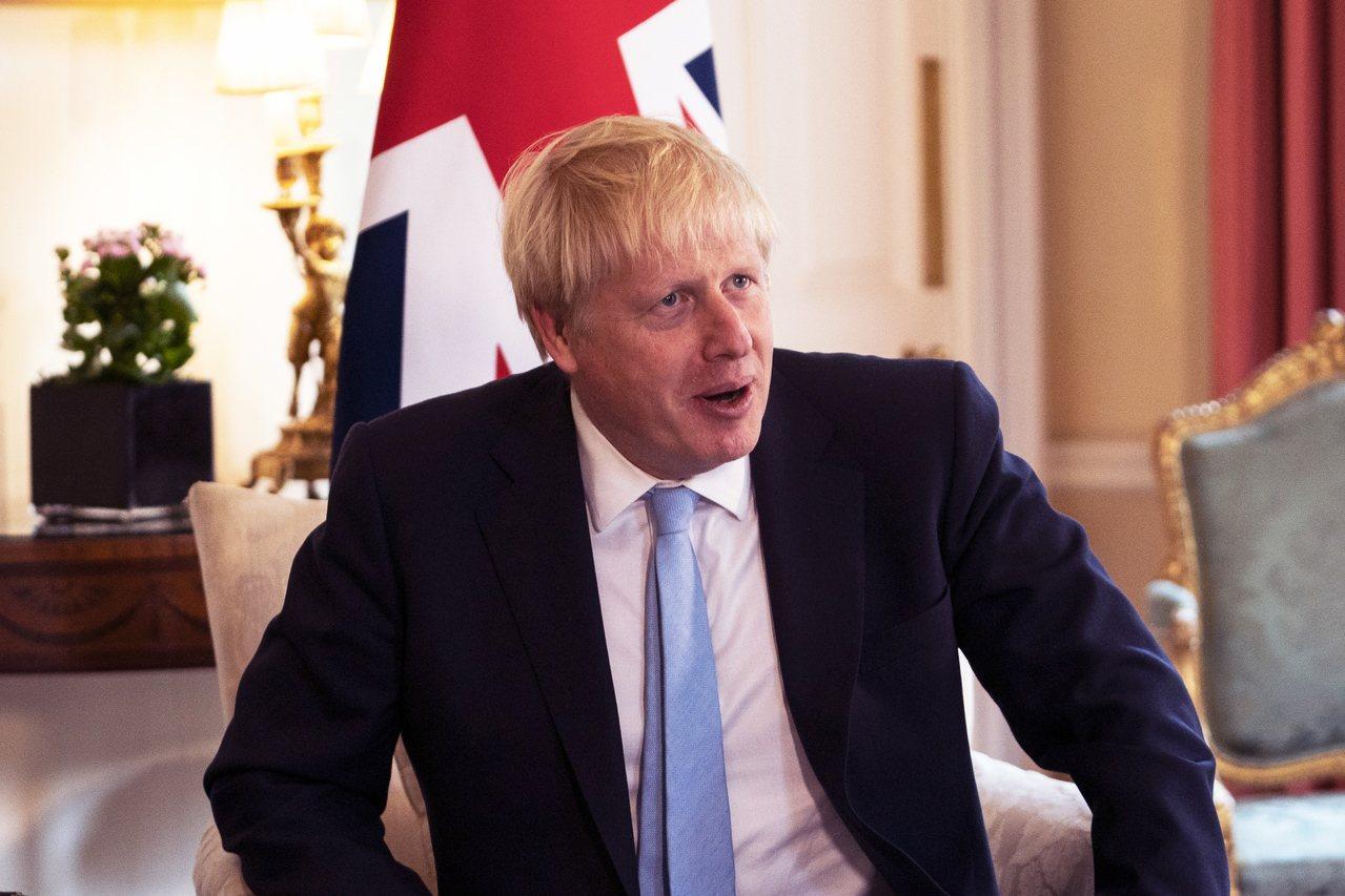 英國首相強生。(歐新社)