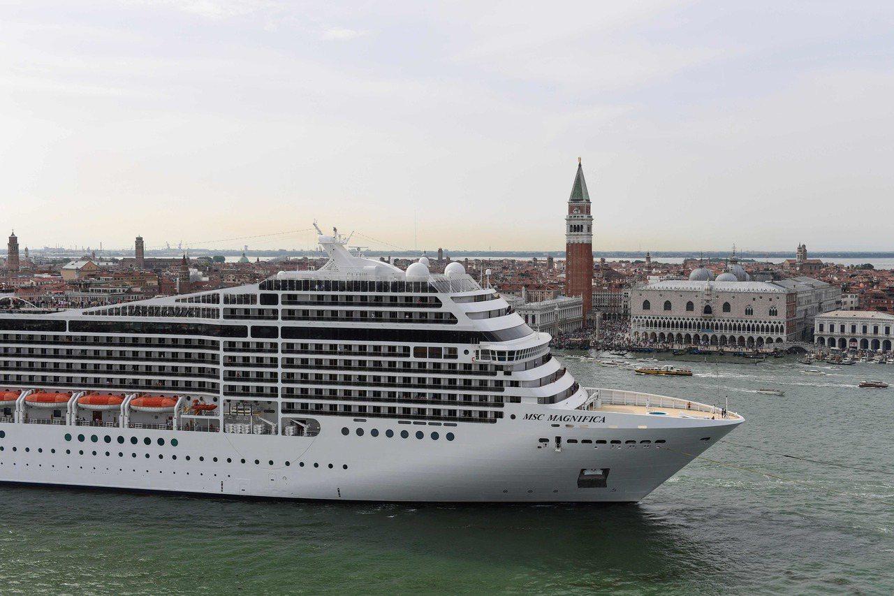 威尼斯將限制大型郵輪進入市中心。 (法新社)