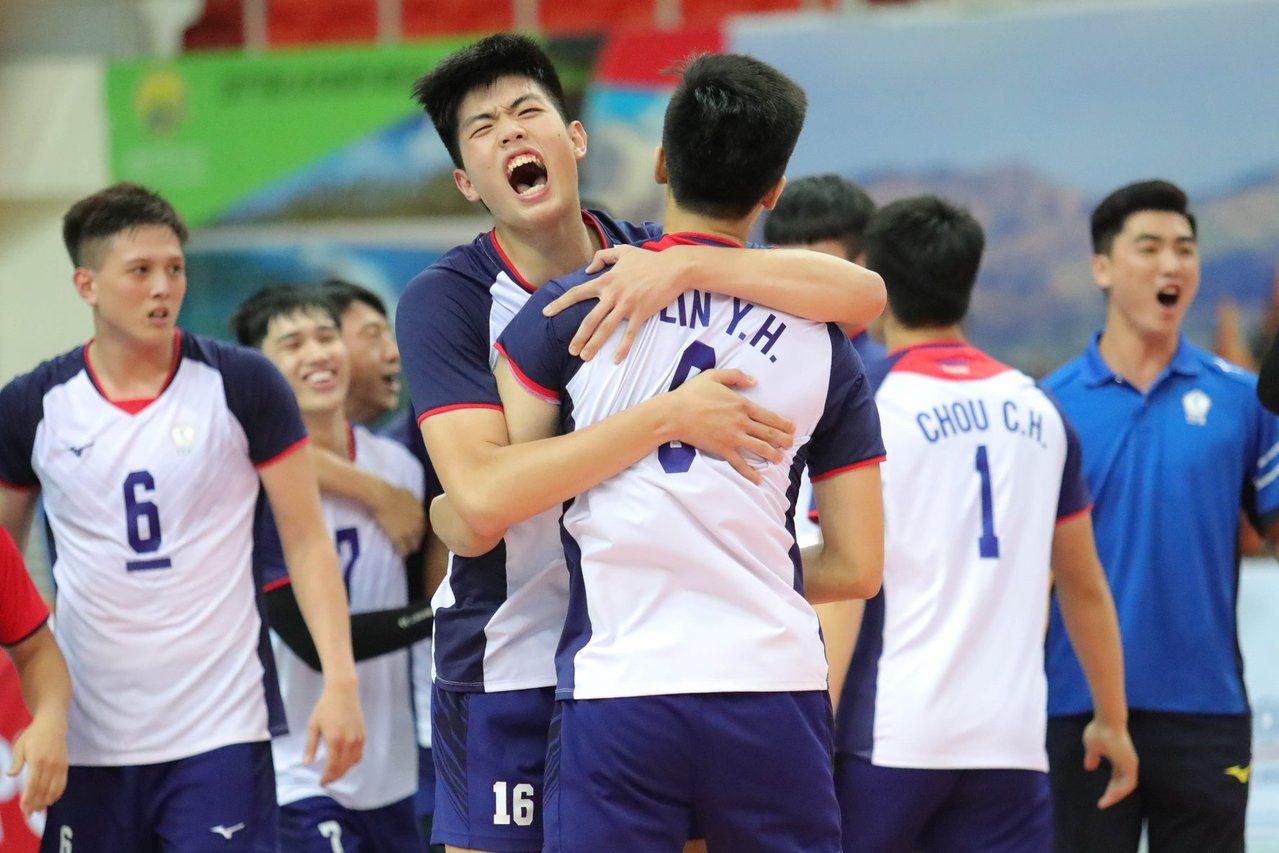 U23男排中華隊奪冠。 截圖自AVC - Asian Volleyball Co...