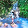 搭公車也能到!台北秘境「Tiffany藍溪瀑」美翻 夏天踏水、泡腳超療癒