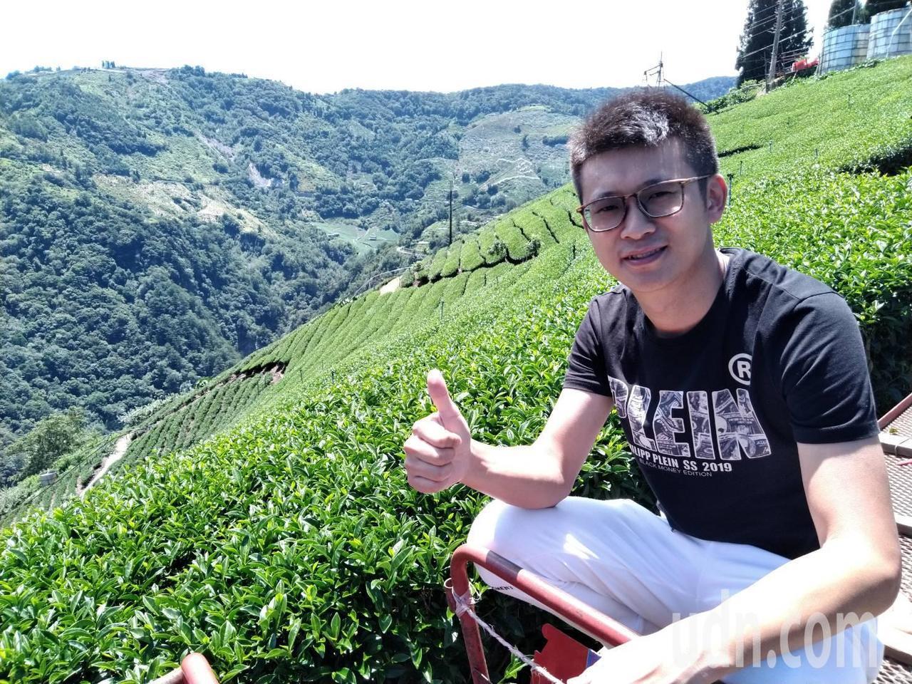 茗博茶業負責人陳孟智要把梨山茶精品化。 記者黃寅/攝影