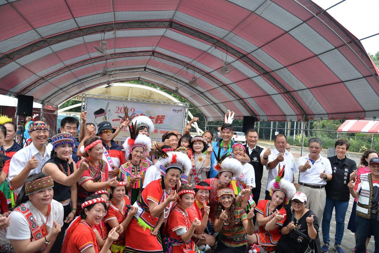 為慶祝豐年祭活動,雲林縣六輕原住民族發展協會,昨天在麥寮鄉運動公園舉辦「2019...