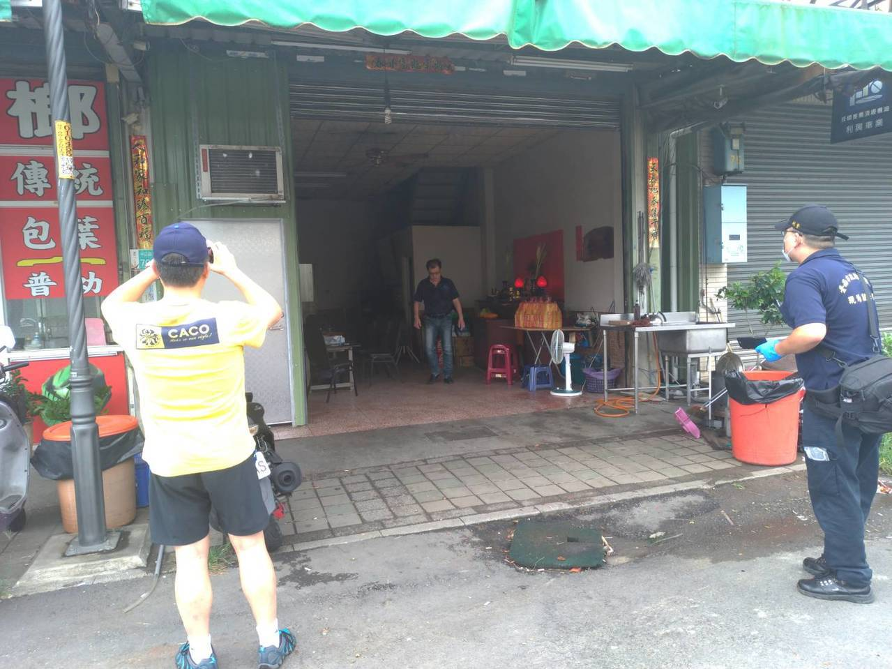 台南市仁德區中正三路今天下午2點多發生槍響,一名50歲男子中槍倒地。記者陳俞安/...