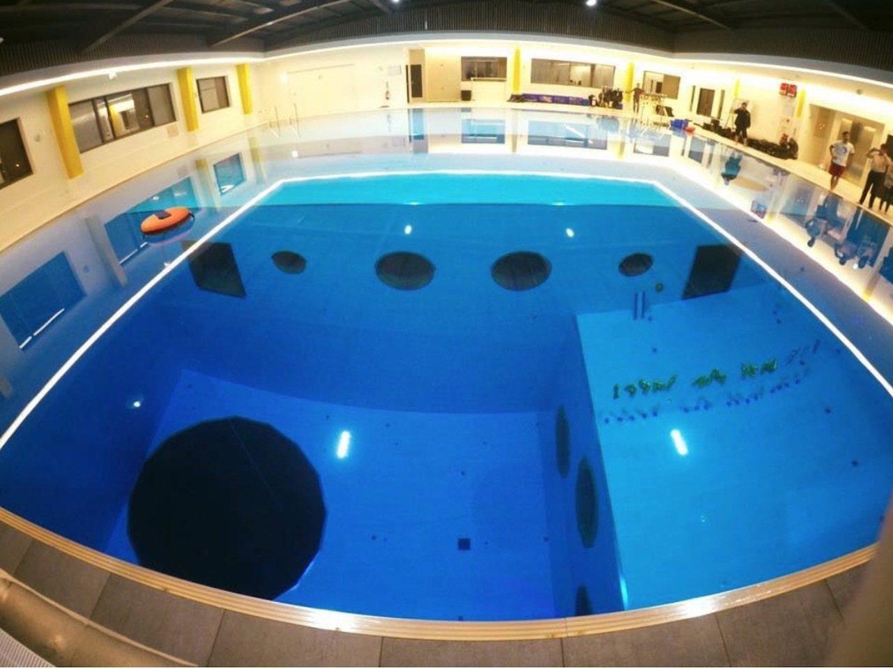 台中市西屯區安和西路一家潛水旅館,今天中午傳出有潛客溺水的意外。圖/摘自業者官網