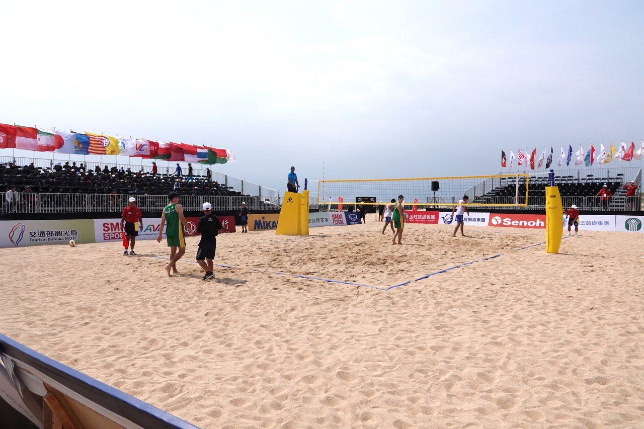 2019年亞洲沙灘排球公開賽澎湖站在隘門沙灘舉行。記者毛琬婷/攝影
