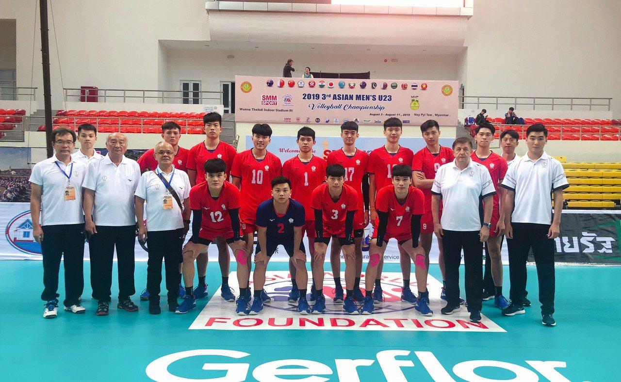 U23男排中華隊。圖/中華排球協會提供