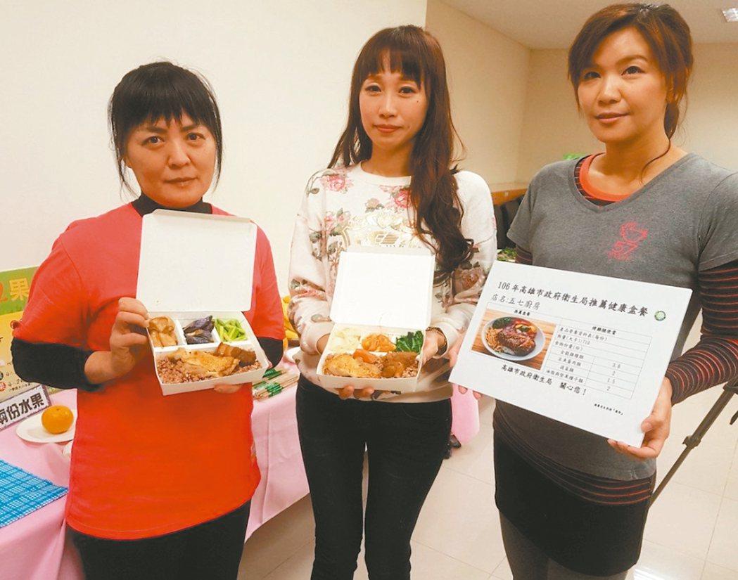 高雄衛生局輔導盒餐業者改變餐點組合,降低動輒千卡的便當熱量,幫助民眾遠離肥胖危機...