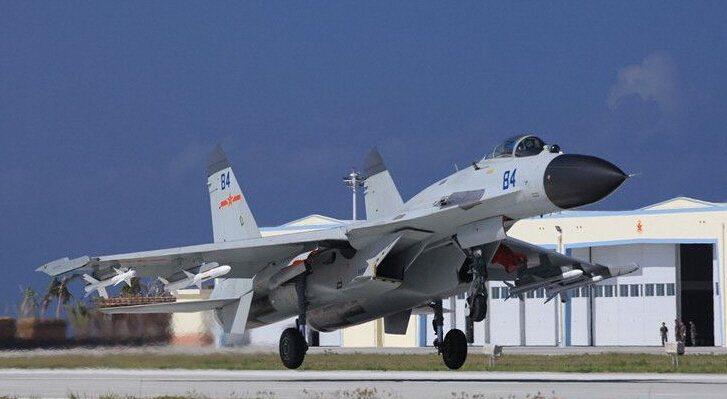中共海軍航空兵殲11戰機。 圖/引自網路
