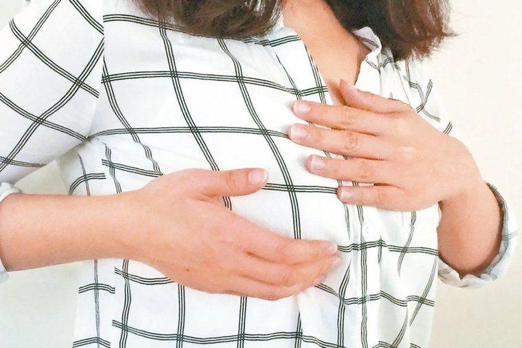 乳房檢查示意圖。 圖/聯合報系資料照片