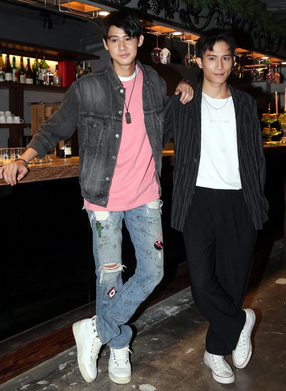 李玉璽(左)與陳彥允在「女力報到」客串演出。記者侯永全/攝影