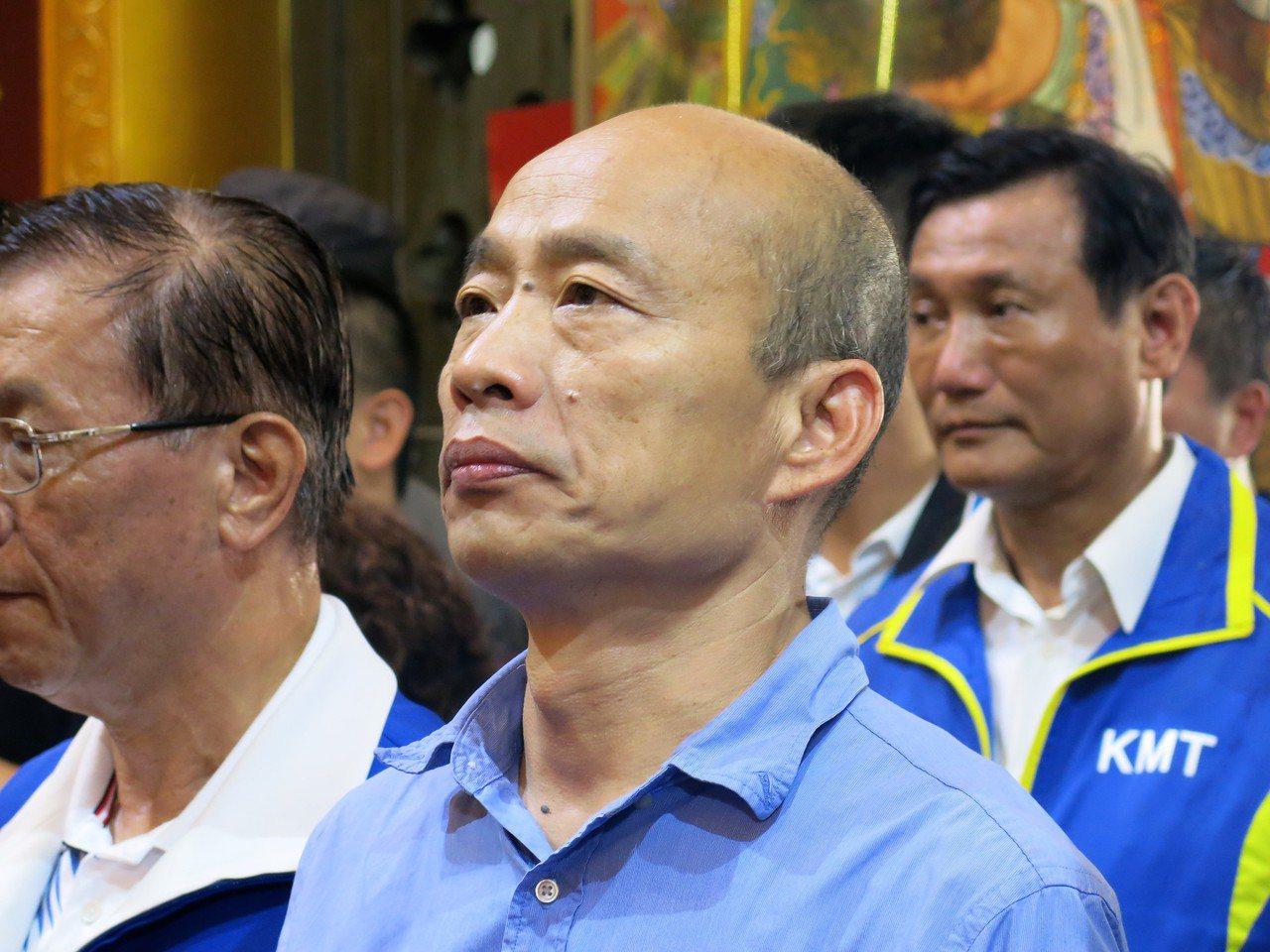 國民黨總統候選人韓國瑜。聯合報系資料照片/記者黑中亮攝影