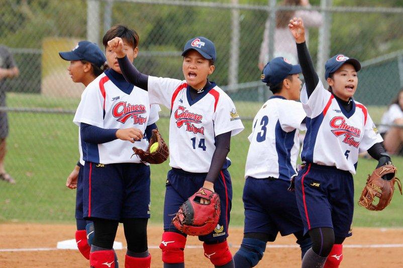 參加2019年U19世界盃的中華女壘隊。 圖/中華民國壘球協會提供