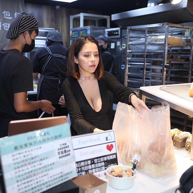 陳香菱成了麵包店店長。圖/擷自instagram