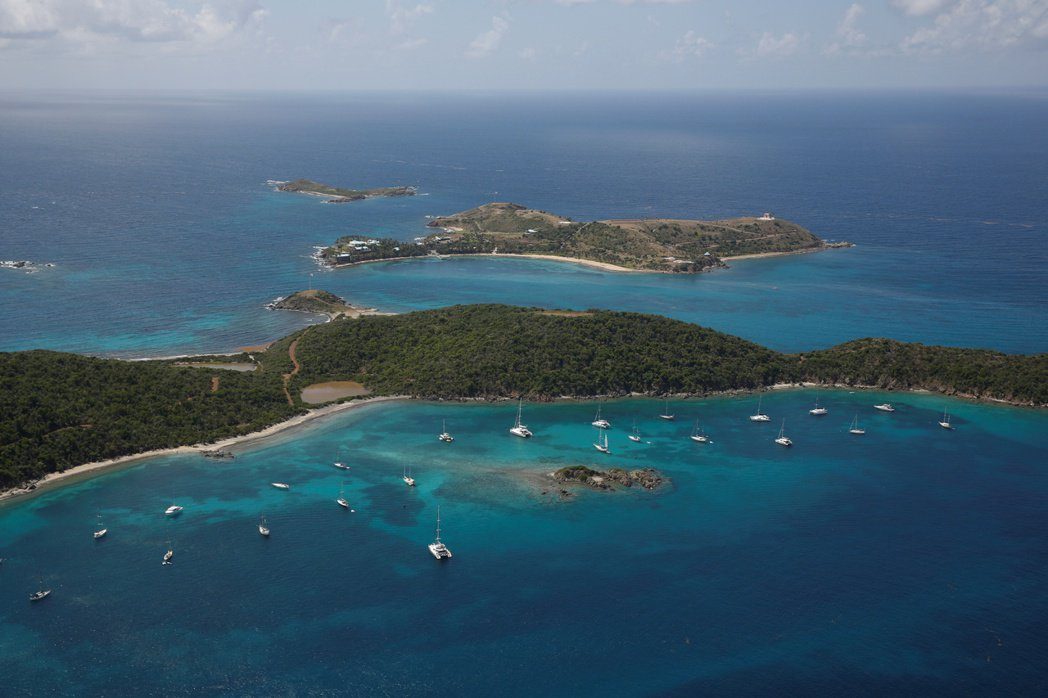艾普斯坦的私人小島位於加勒比海。 (路透)