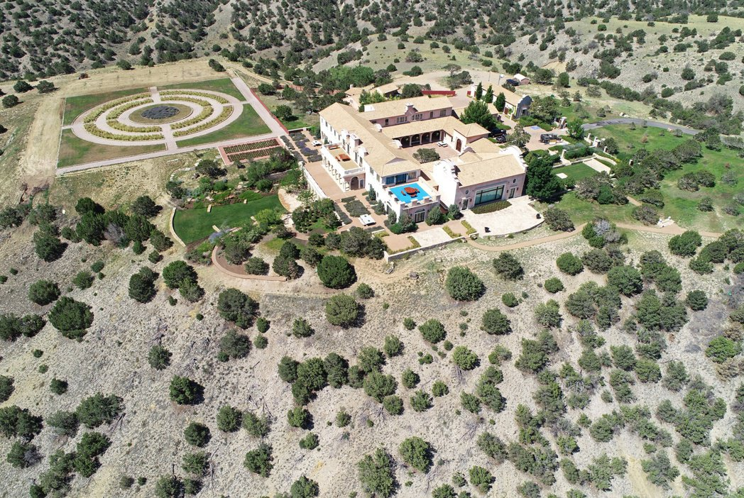 艾普斯坦位在美國新墨西哥州的農場。 (路透)