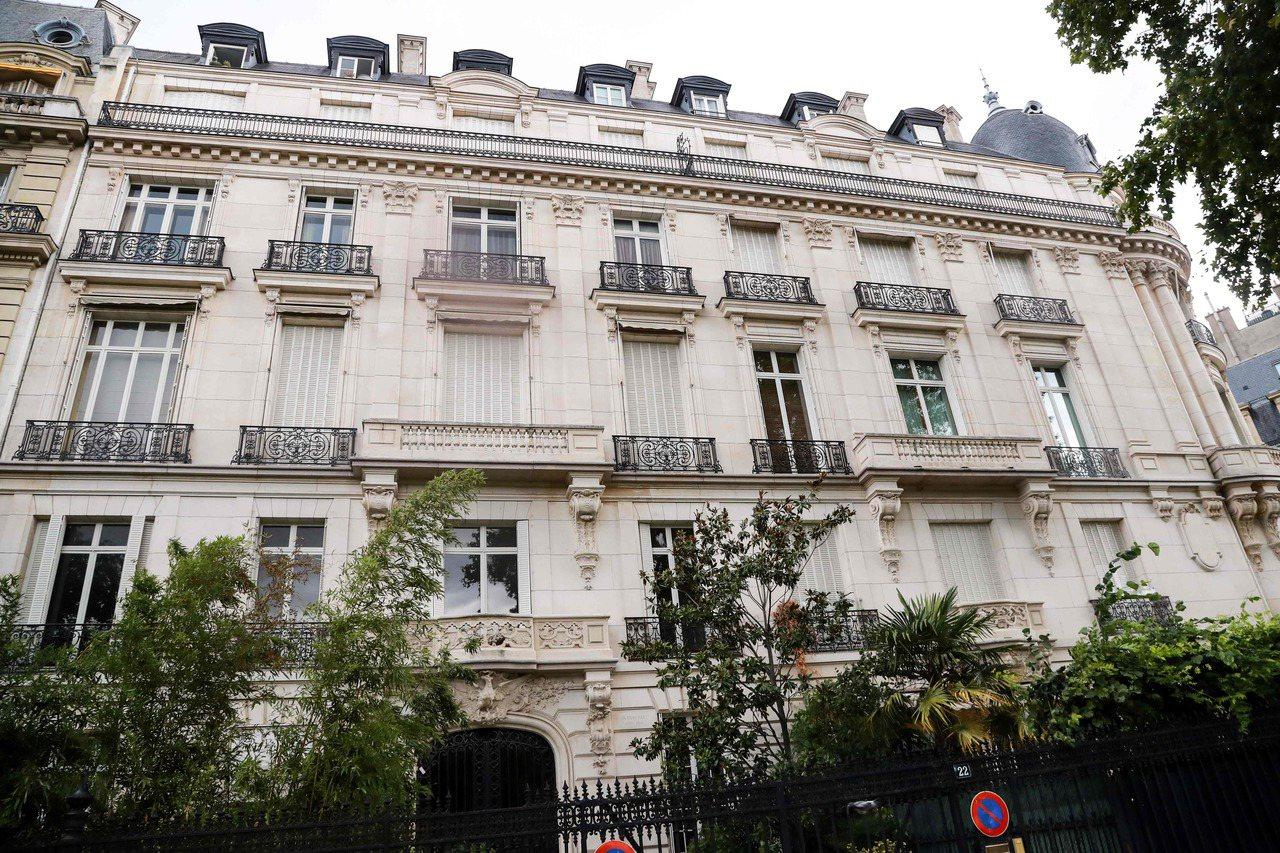 艾普斯坦在巴黎十六區的豪宅,該區是巴黎最有錢的富豪聚居區。 (法新社)