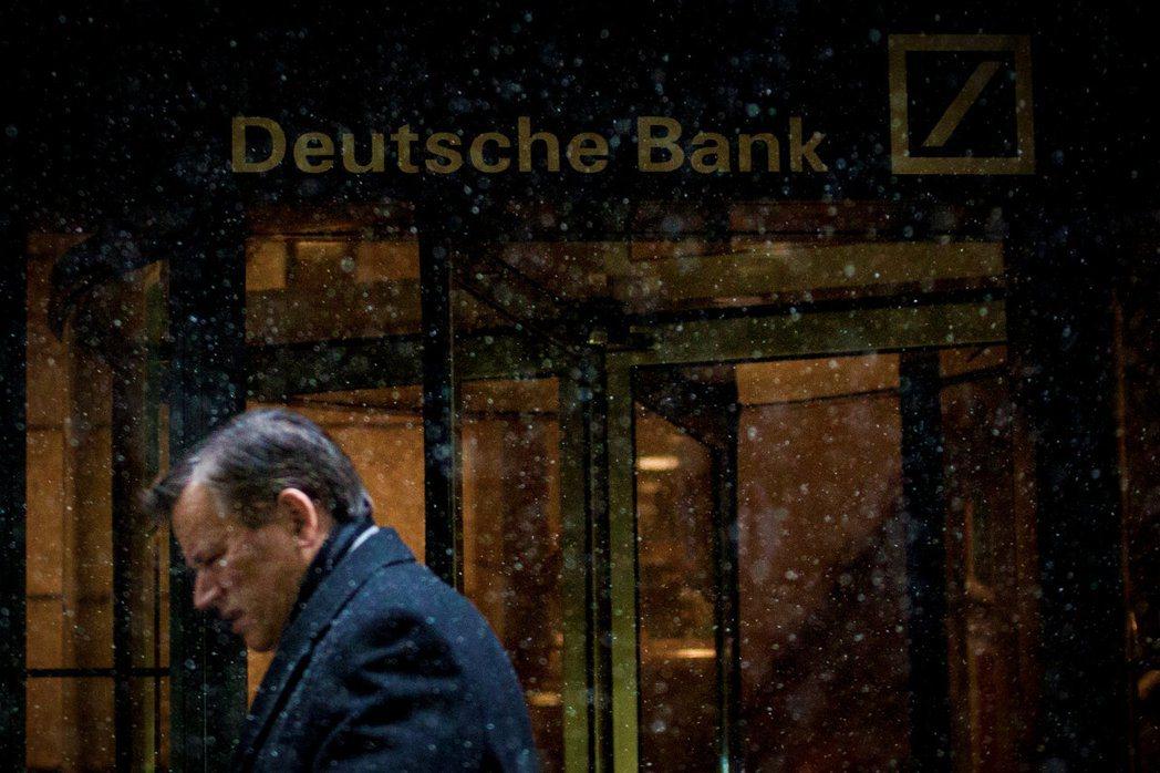 德意志銀行在紐約曼哈頓的分行。 (路透)
