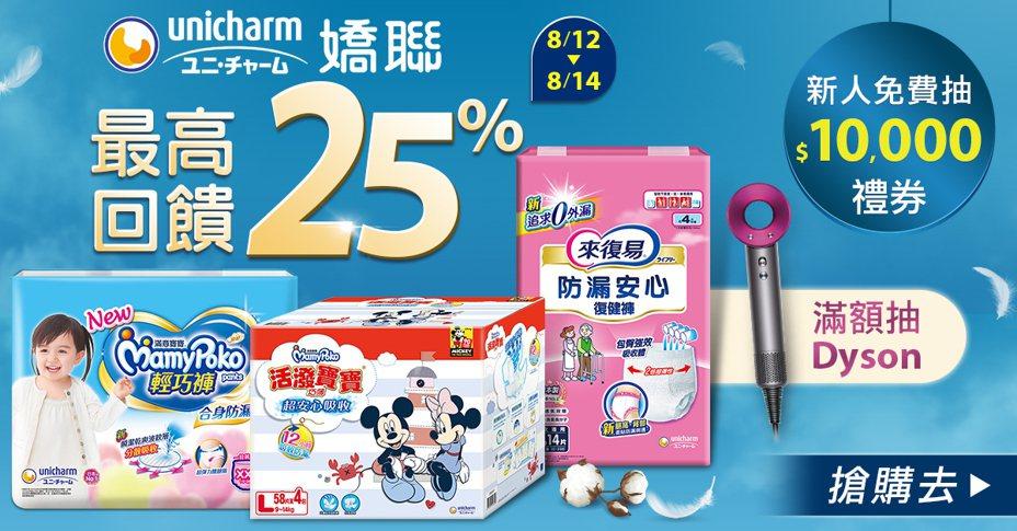 8/12起連三天至udn買東西購買嬌聯系列商品最低3折起!圖/udn買東西提供