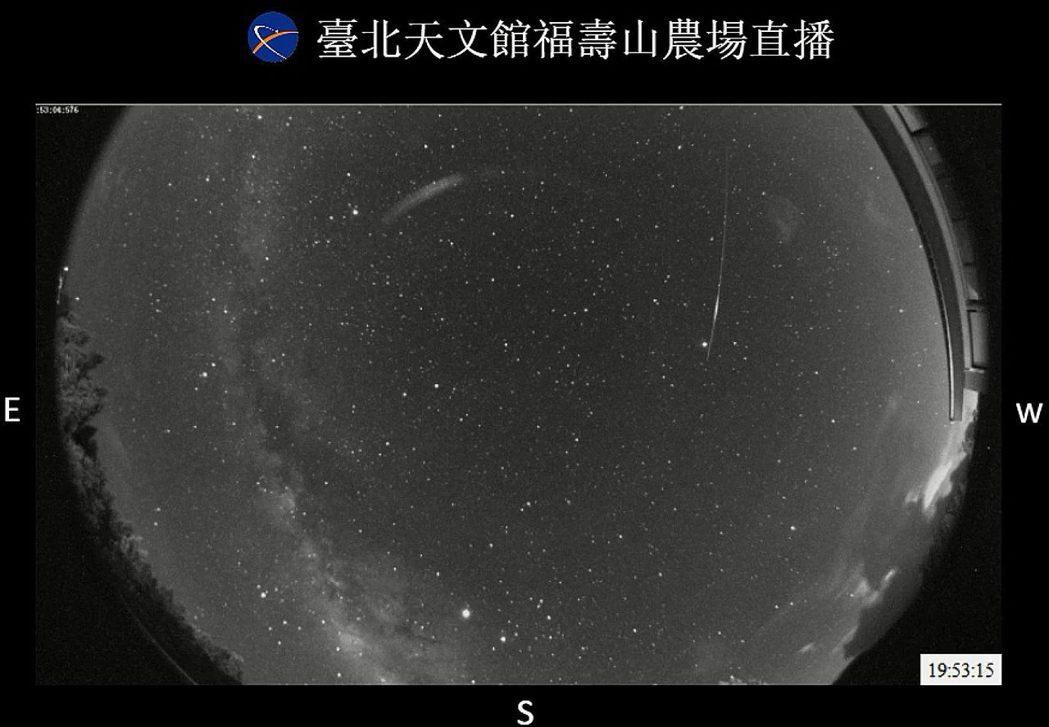 台北市立天文科學教育館公布今年英仙座流星雨極大期發生在13日前後,交通局與警方這...