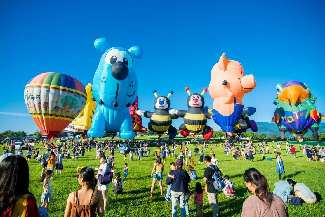 為期45天的2019台灣國際熱氣球嘉年華預定今天晚上圓滿落幕。 圖/聯合報系資料...