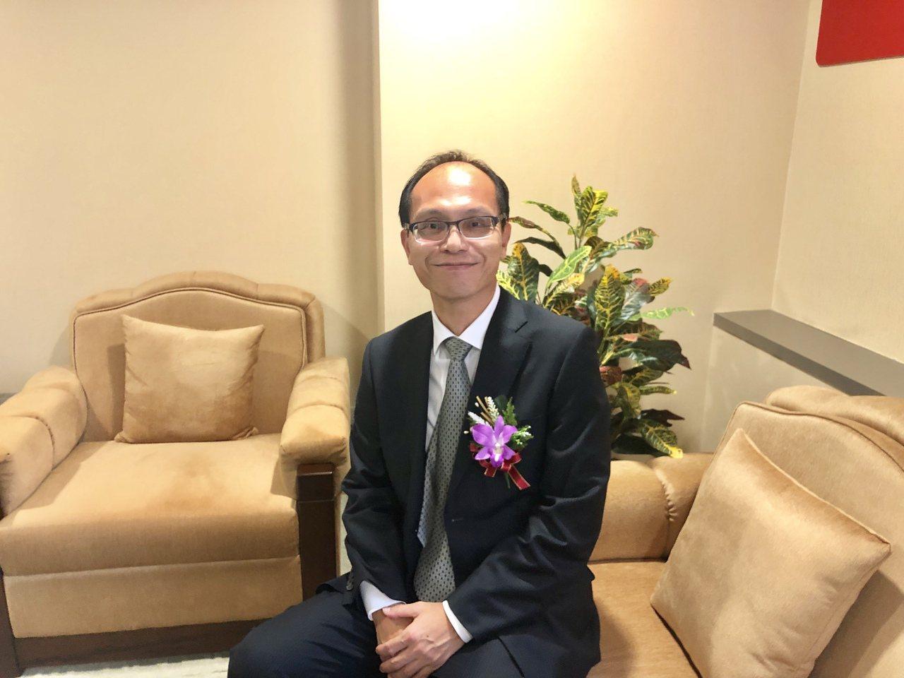 由田董事長鄒嘉駿今日受邀出席櫃買中心業績發表會。記者尹慧中攝影