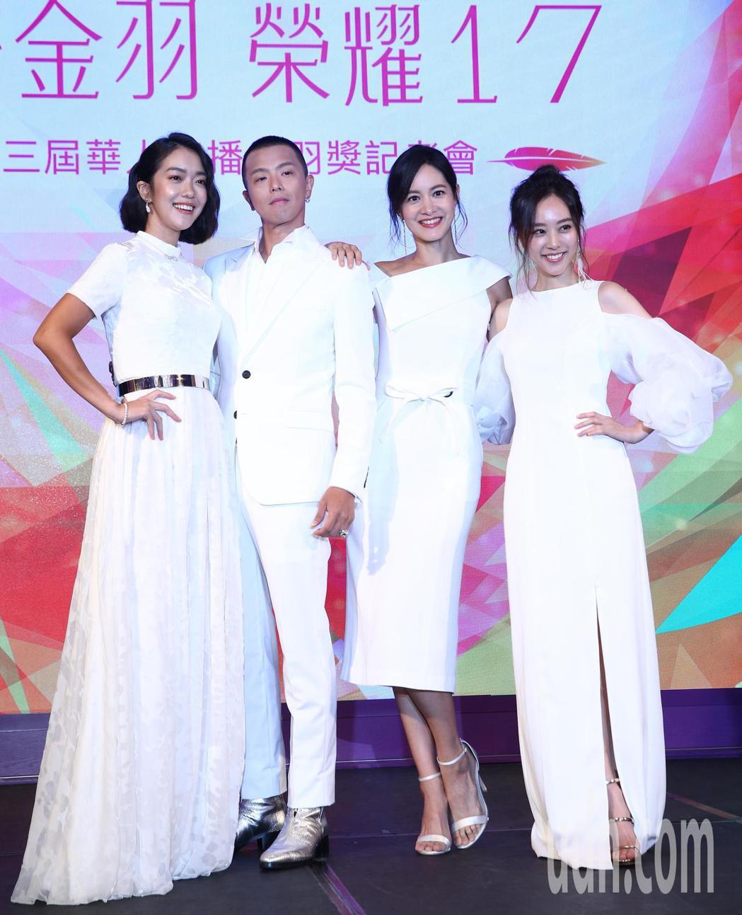 李霈瑜(左起)、黃鴻升(小鬼)、謝怡芬Janet與劉容嘉下午出席 17 Medi...