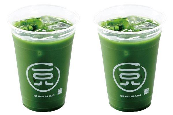 大杯冰抹茶買一送一,每杯售價108元。圖/一〇八抹茶茶廊提供
