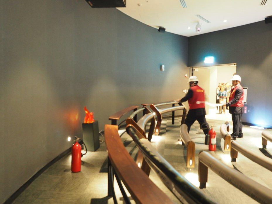故宮南院有自衛消防編組,定期消防演練。圖/故宮南院提供