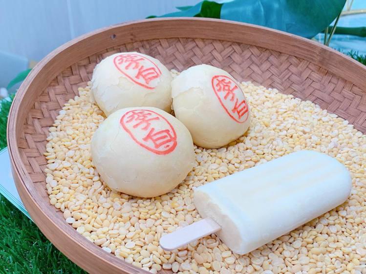 「舊振南綠豆椪牛乳冰棒」每支售價40元。記者徐力剛╱攝影