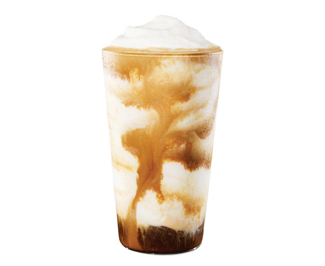 雙濃粹義式咖啡星冰樂,售價145元。圖/星巴克提供